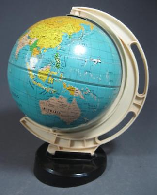 Retro/vintage 60s revolving tinplate WORLD GLOBE made in West Germany