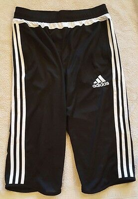 NWT Adidas Youth Tiro 15 3/4 Adizero Pants Black White Size Large L 13-14Y