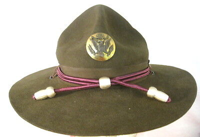 WWII US Army M1911 Montana Peak Campaign Hat - Medical Hat Cords &  NCO Emblem