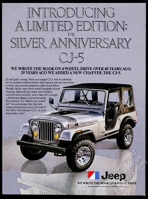1979 Jeep Renegade Silver Anniversary CJ5 photo vintage print ad