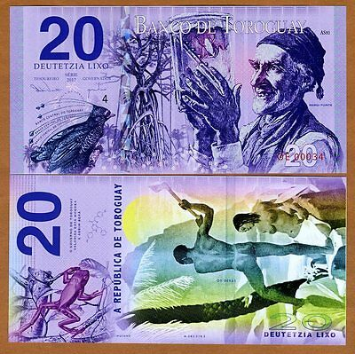 Toroguay, 20 Lixo, 2017, POLYMER, Limited Private Issue, UNC