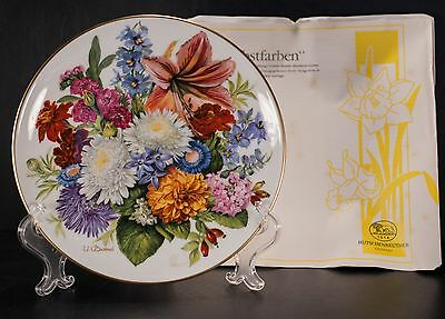 Hutschenreuther Ursula Band Germany Plates Lot of 4 Flowers