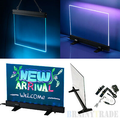 "16""x12"" 7 Colors Illuminated Erasable Neon LED Sign message Board RGB 28 Mode"