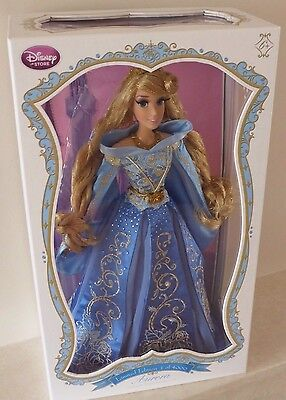 "Disney Store - Limited Edition Sleeping Beauty/Aurora Doll - 17"" Blue Princess"