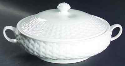 Aynsley BELLEEK BASKETWEAVE Round Covered Vegetable Bowl 2208532