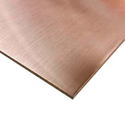 "C110 Copper Sheet 0.040 (18 ga.), 12"" Width, 12"" Length,  (#4 Brushed finish)"