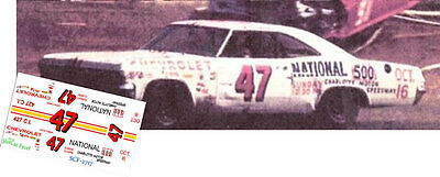 CD_2717 #47 Curtis Turner 1966 Chevy  1:25 Scale Decals