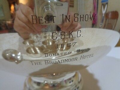 1967 CSKC Best in Show Trophy Sheridan Silverplated Punch Bowl Set Broadmoor CO