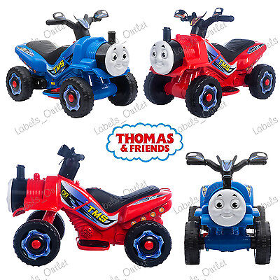 Thomas Friend Style Steam Train Motorbike Ride On Battery Quad Bike + Real Steam