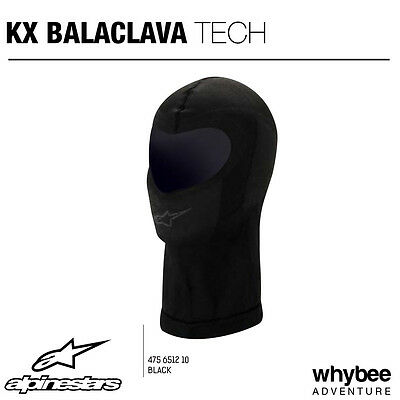4756512 Alpinestars KX KART BALACLAVA Open Face One Size Black for KARTING