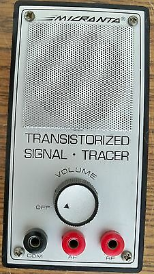 Micronta Radio Shack Signal Tracer w/Test Cables, Battery & Instructions WORKS
