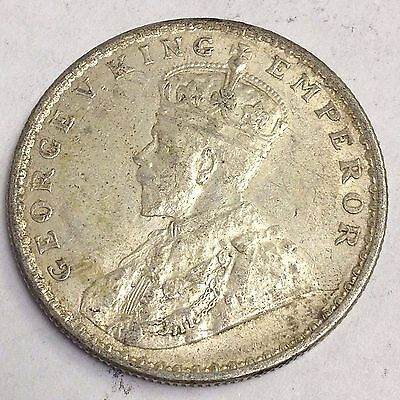 1917 British India One Rupee, George V, silver coin, VF