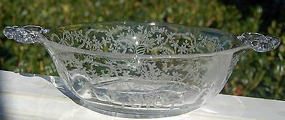Beautiful Vintage Fostoria Handled Pickle Dish - Corsage Etching