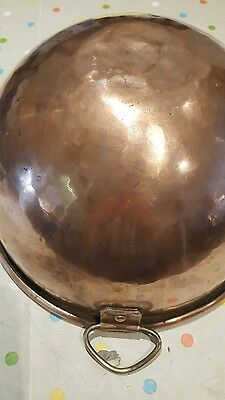 HEAVY COPPER VICTORIAN ANTIQUE KITCHEN MIXING BOWL. Collectable
