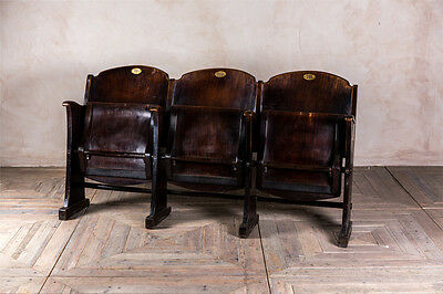 Cinema Chairs Vintage Theatre Seats Retro Wooden Folding Chairs Fold-Up Seats