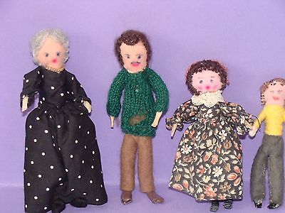 Hand Made Vintage Dolls House Family