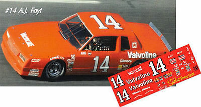 CD_1523 #14 AJ Foyt   Valvoline Chevy  1:32 Scale Decals