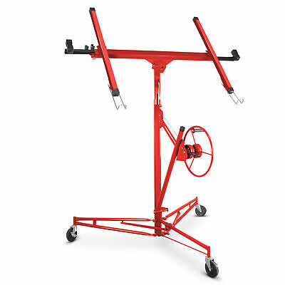 Drywall Panel Lift Dry Wall Panel Hoist Lockable Lifter Red
