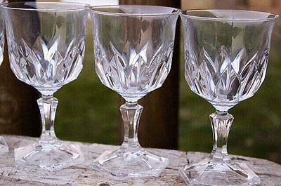 3 Cristal/Cris D' Arques Crystal CHAUMONT Glass Wine Goblets -Set of Three