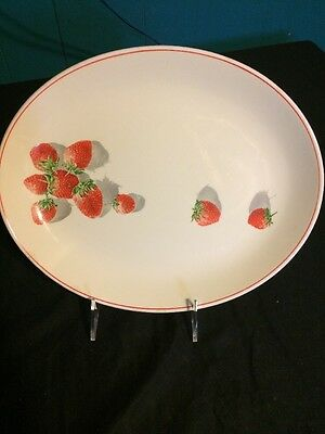 Vintage W. S. George Cavitt Shaw Strawberry Shortcake oval 11 1/2 inch Platter