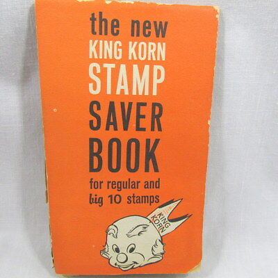 King Korn Saver Books Trading Stamps 100 Filled Pages 1960s Vintage