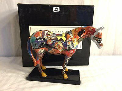 2003 Trail of Painted Ponies Route 66 Ceramic Road Map Horse #1460 MIB!