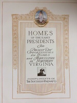 1913 Southern Railway Co-Northern Virginia Promo Book-Trains