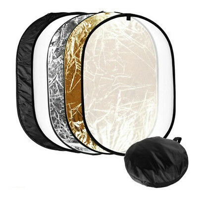 "24""x36"" Photo Video Studio Multi Collapsible Disc Lighting Reflector 5-in-1"