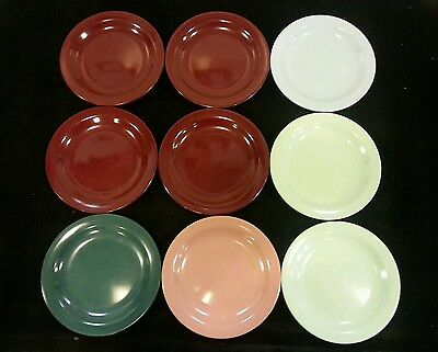 "9 Vintage  BOONTON USA Melmac 6"" small plates - Variety of Colors"