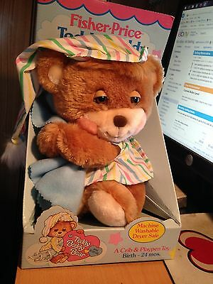 Vintage 1985 Fisher Price TEDDY BEDDY BEAR 1401--morgan WITH BOX