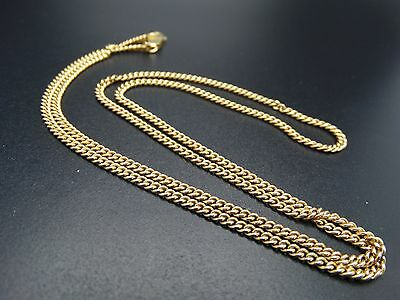 "14k Solid Yellow Gold 24"" Cuban Link Heavy Pendant Chain 15.1 grams"
