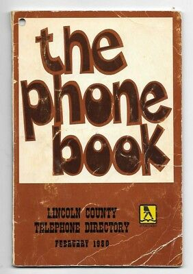 Scarce 1980 Lincoln County Nevada Telephone Directory/Book