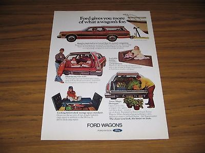 1976 Print Ad '76 Ford LTD Station Wagons Country Squire