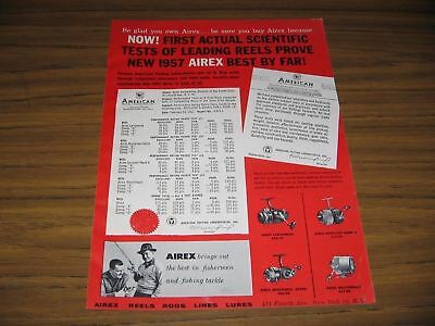 1957 Print Ad Airex Fishing Reels Larchmont,Spinster,Masterkast,Mastereel Lionel