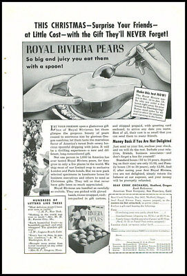 1940s vintage ad for Royal Riviera Pears -354