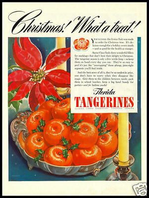 1940s vintage ad for Florida Tangerines