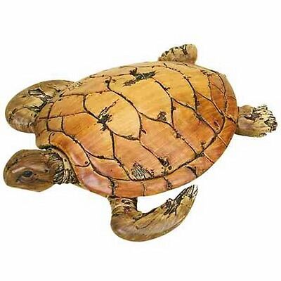Loggerhead Sea Turtle Driftwood Appearance Nautical Decor New In Box
