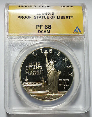 1986-S Statue of Liberty Commemorative Silver Dollar ANACS PF68 DCAM (Inv 2215)