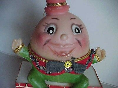 BLOW MOLD plastic Character Christmas Tree Ornament HUMPTY DUMPTY egg Figurine