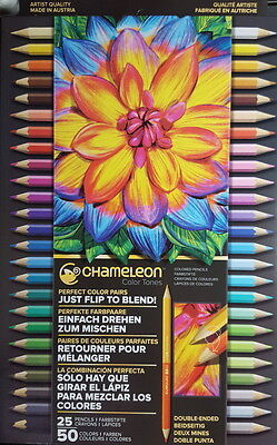Chameleon Color Tone Set of 25 Pencils 50 Colours Double Ended NEW