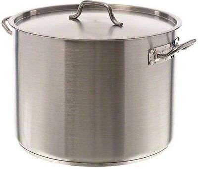 Update SPS-40 40qt Induction Ready SS Stock Pot w/Cover, New