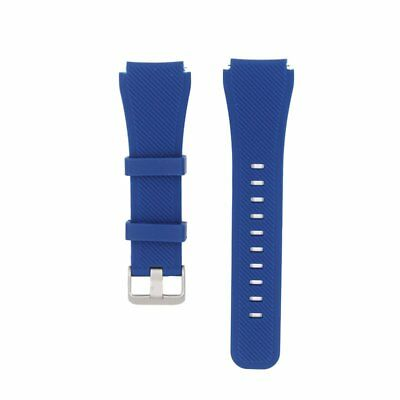 Blue Silicone Strap Wrist Band For Samsung Gear S4 Frontier Classic Watch