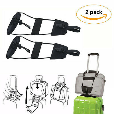 2pcs Travel Luggage Suitcase Adjustable Belt Add A Bag Strap Carry On Bungee OU