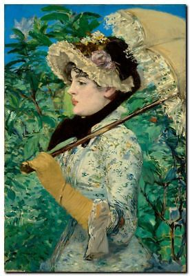 Vintage French Art Manet CANVAS PRINT Jeanne Demarsy painting poster A4