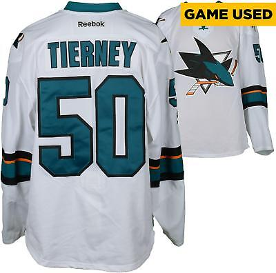Game Used Chris Tierney Sharks Jersey Fanatics Authentic COA Item#7399599