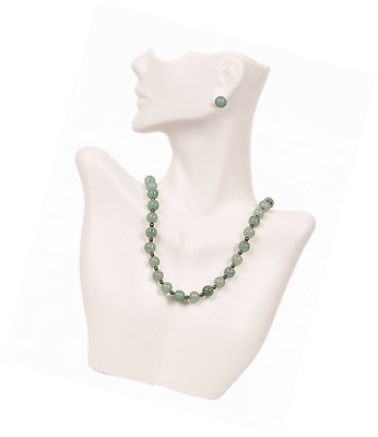 Necklace and Earring Bust Jewelry Display - White