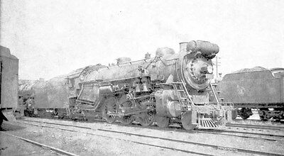 Negative - Central Railroad of New Jersey 4-6-2 Type Steam Locomotive No. 833
