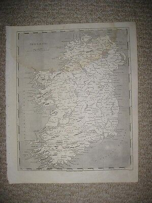 Fine Antique 1804 Ireland Arrowsmith & Lewis Copperplate Map Detailed Rare Nr