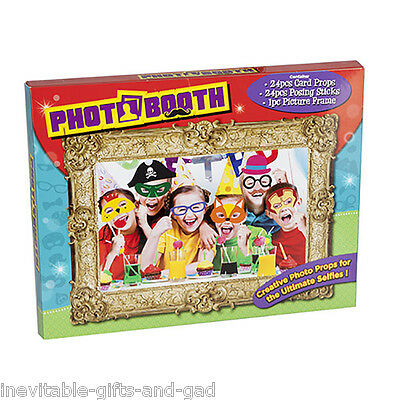 Photo Booth kit with frame and 24 Posing Photo Props Party Props Wedding