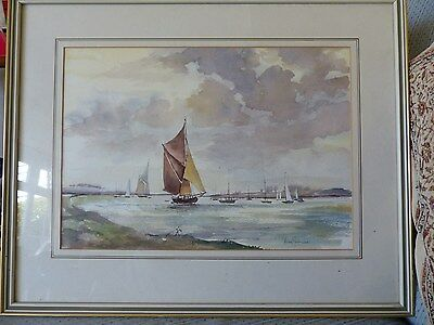 Origional maritime watercolour painting framed by Anne Shennan
